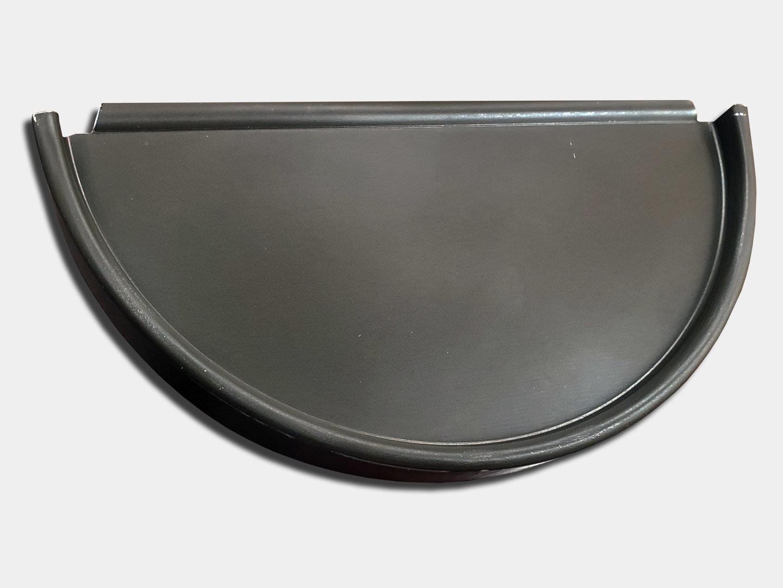 Half round gutter aluminum end cap