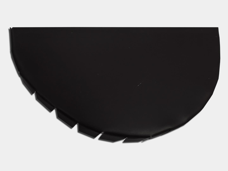 Half round gutter steel end cap