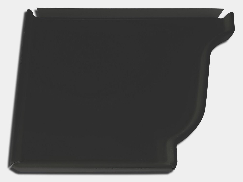 K style steel gutter left end cap