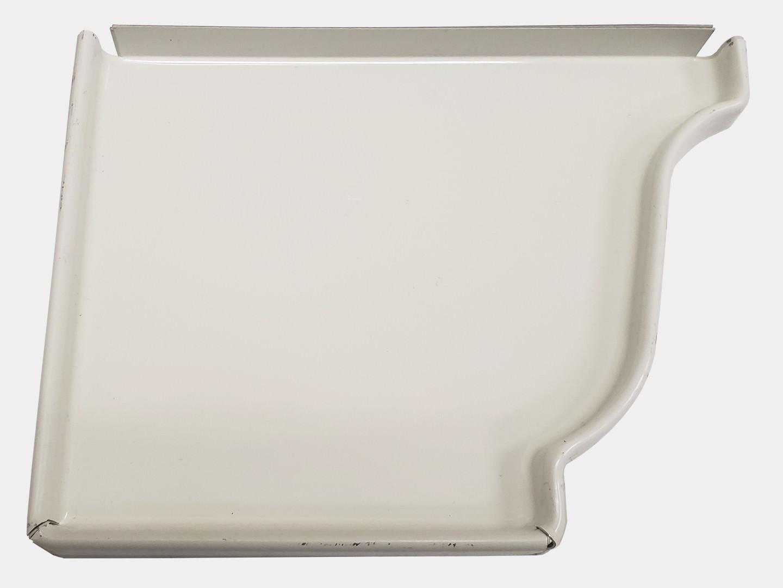 K style white aluminum gutter left end cap