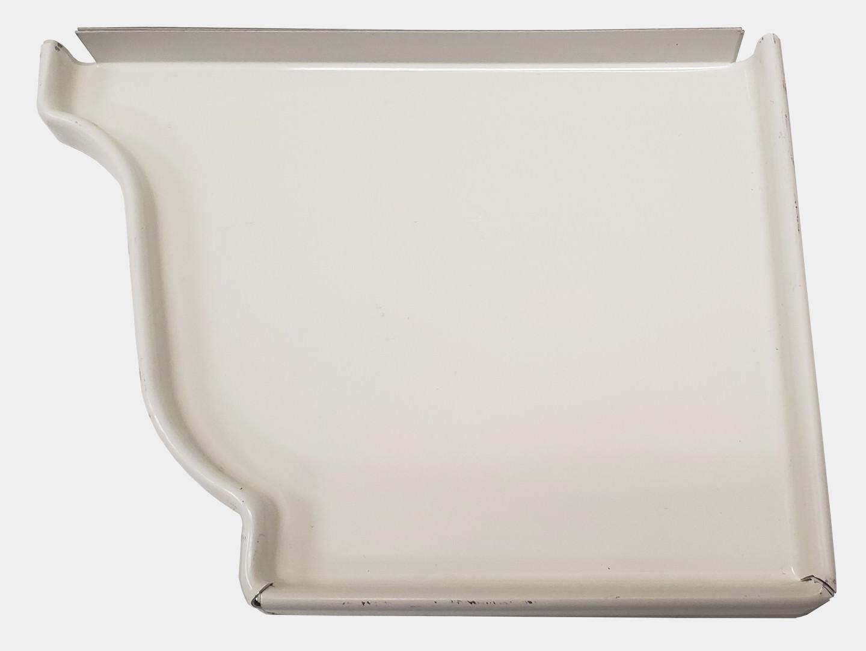 K style white aluminum gutter right end cap