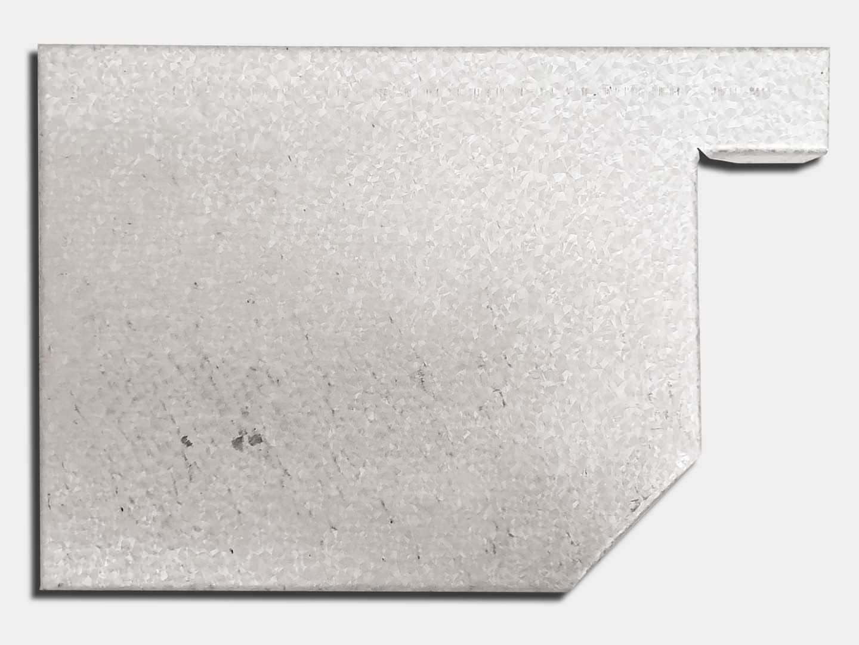 Residential box galvalume gutter left end cap