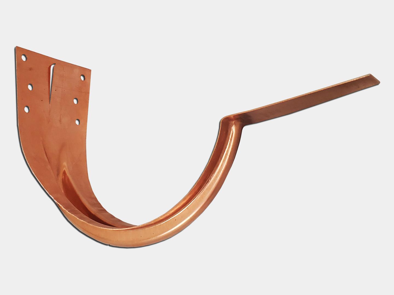 Copper stamped under mount half round gutter hanger