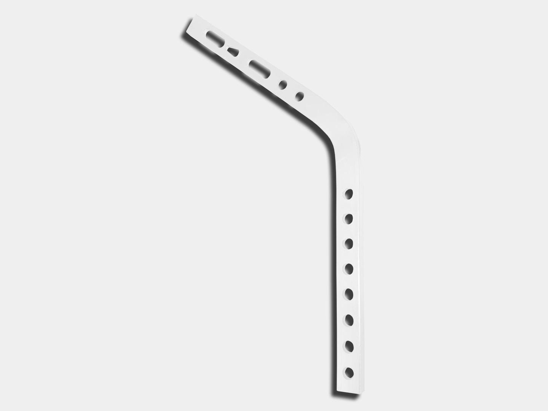 Exposed rafter shank #11 for gutter hanger - white aluminum