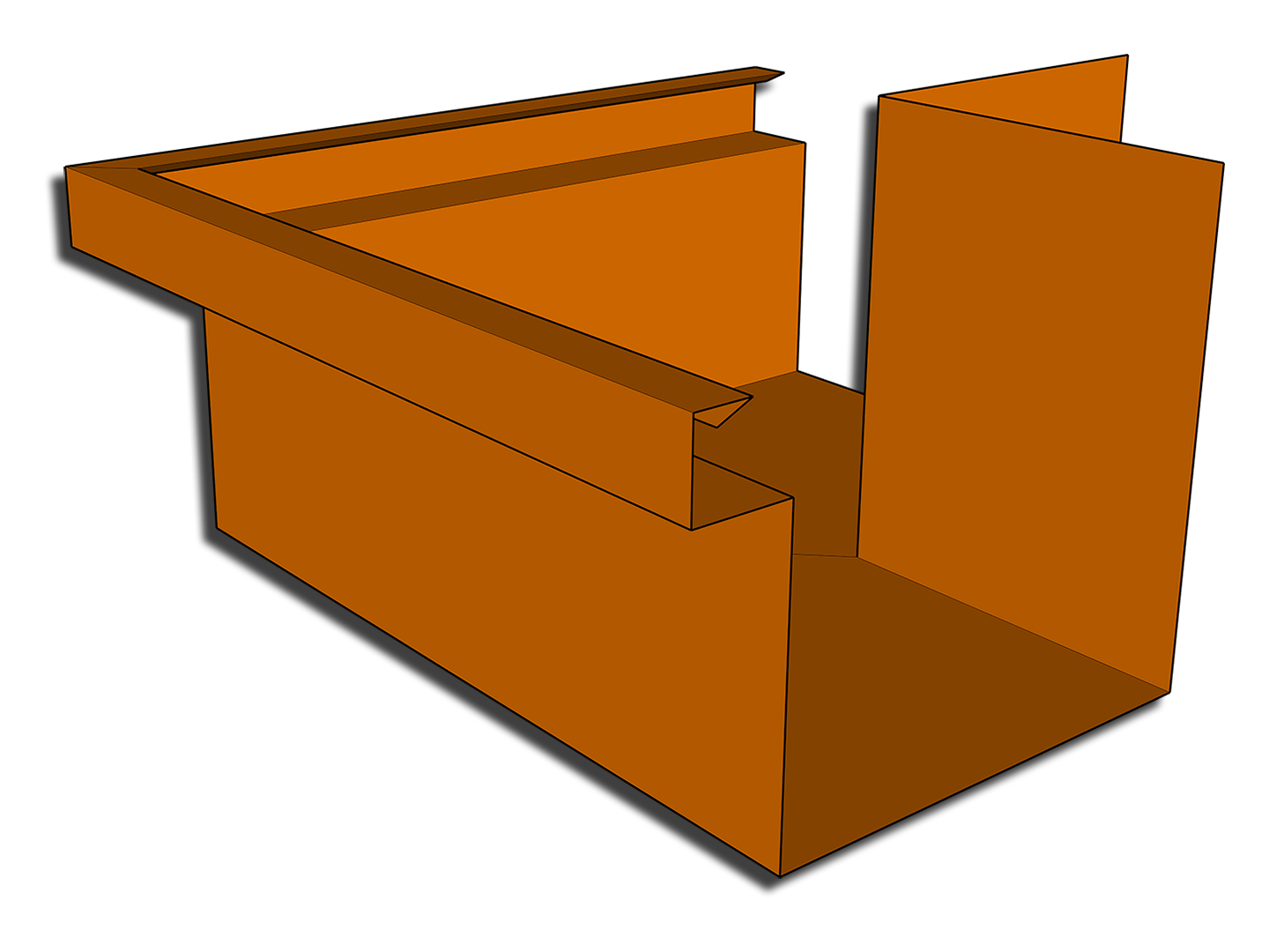 Commercial box gutter miter