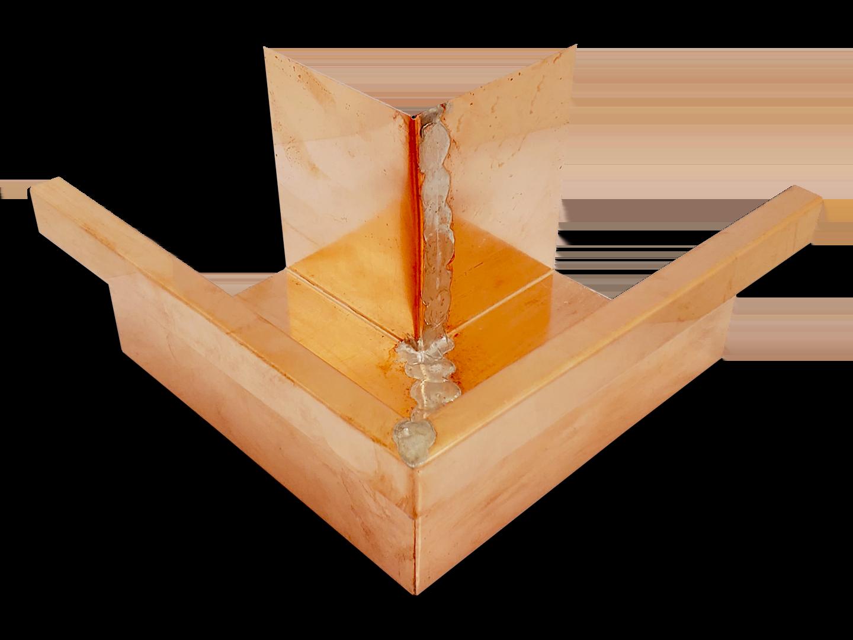 Commercial box gutter miter copper