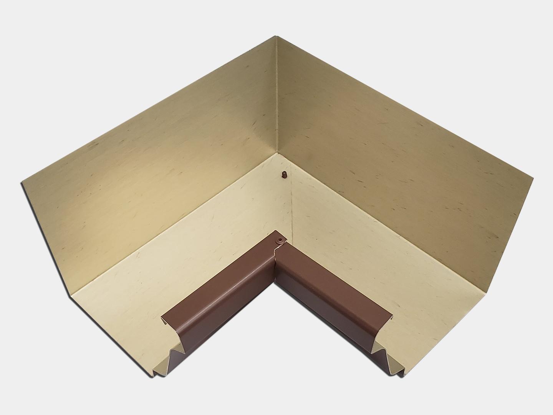 K-style gutter inside miter - bronze steel