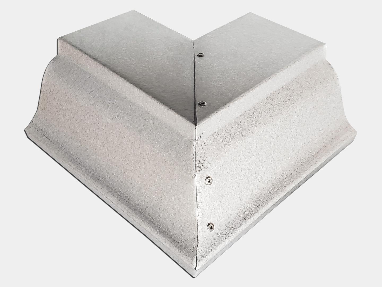 K-style gutter outside galvalume box miter