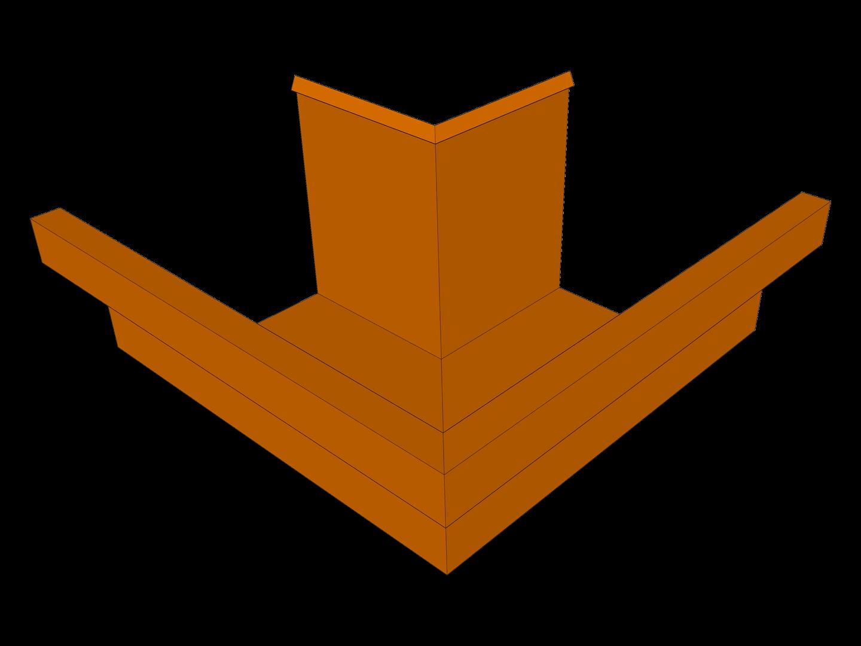 Residential box gutter miter copper