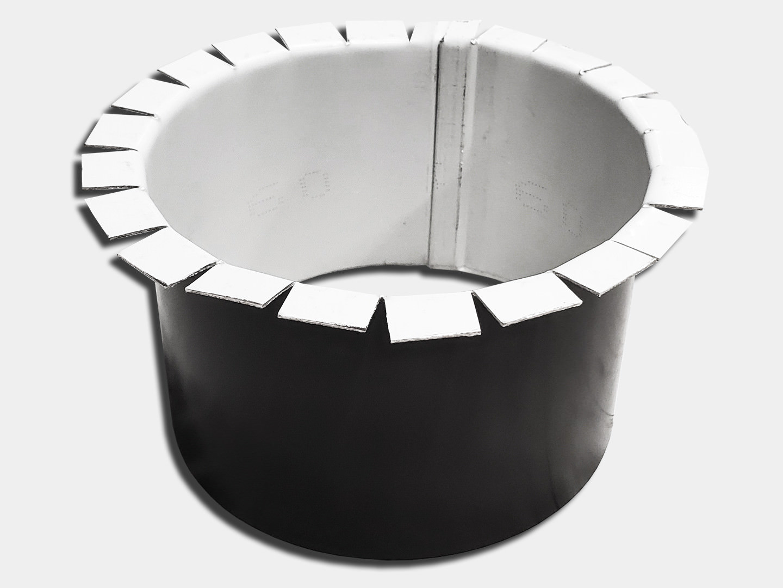 Custom round gutter outlet