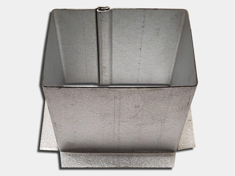 Custom square galvalume plus gutter outlet