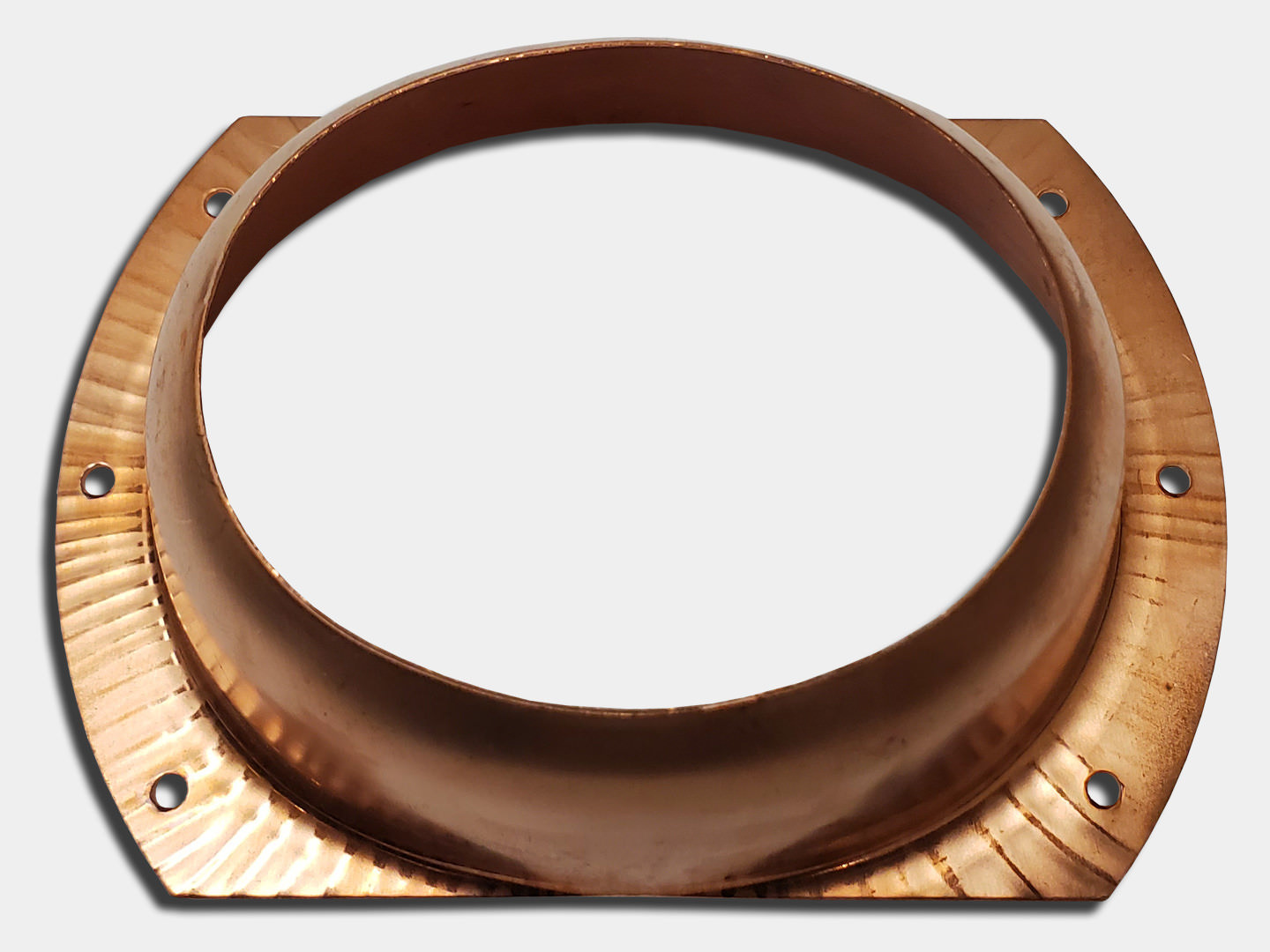 Oval Outlet for square and round downspout - copper
