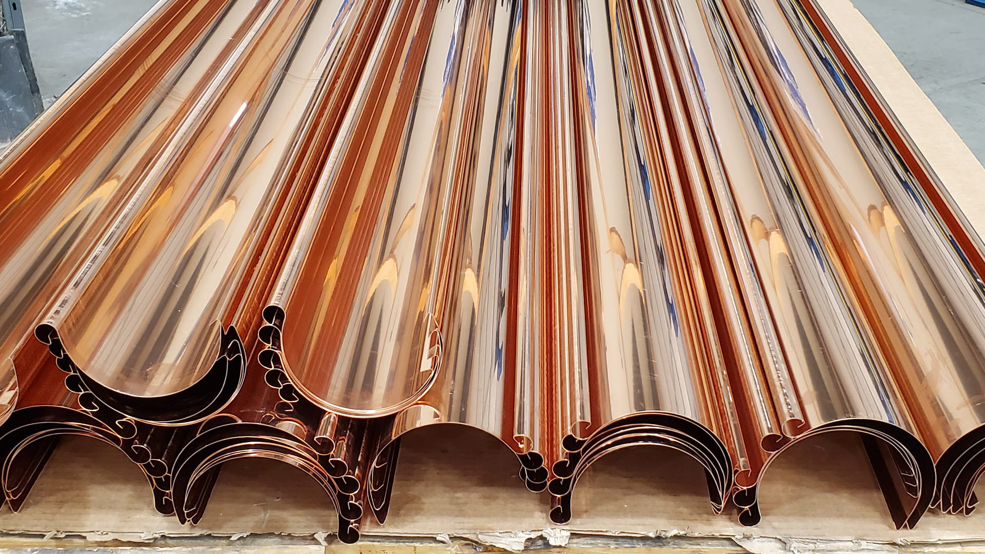 """6"""" traditional bead copper half round gutters"""