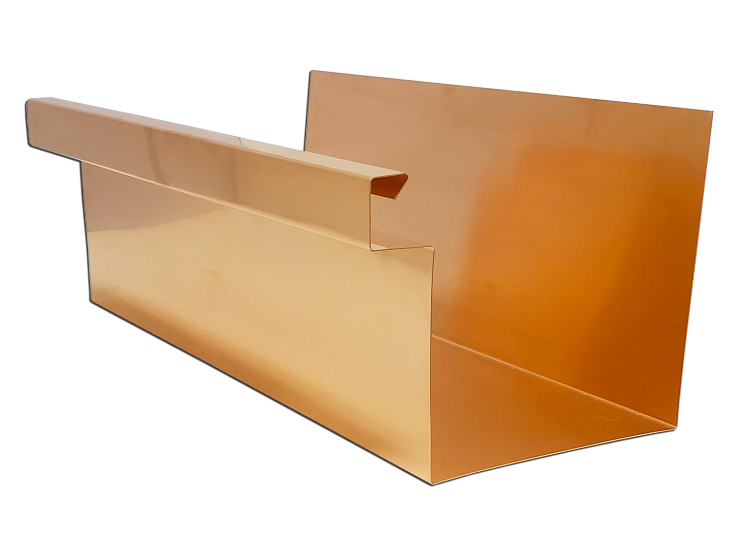 Commercial Copper Box Gutter - Style A