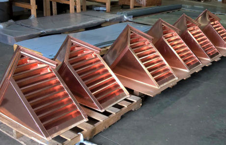 Custom Made Copper Dormers