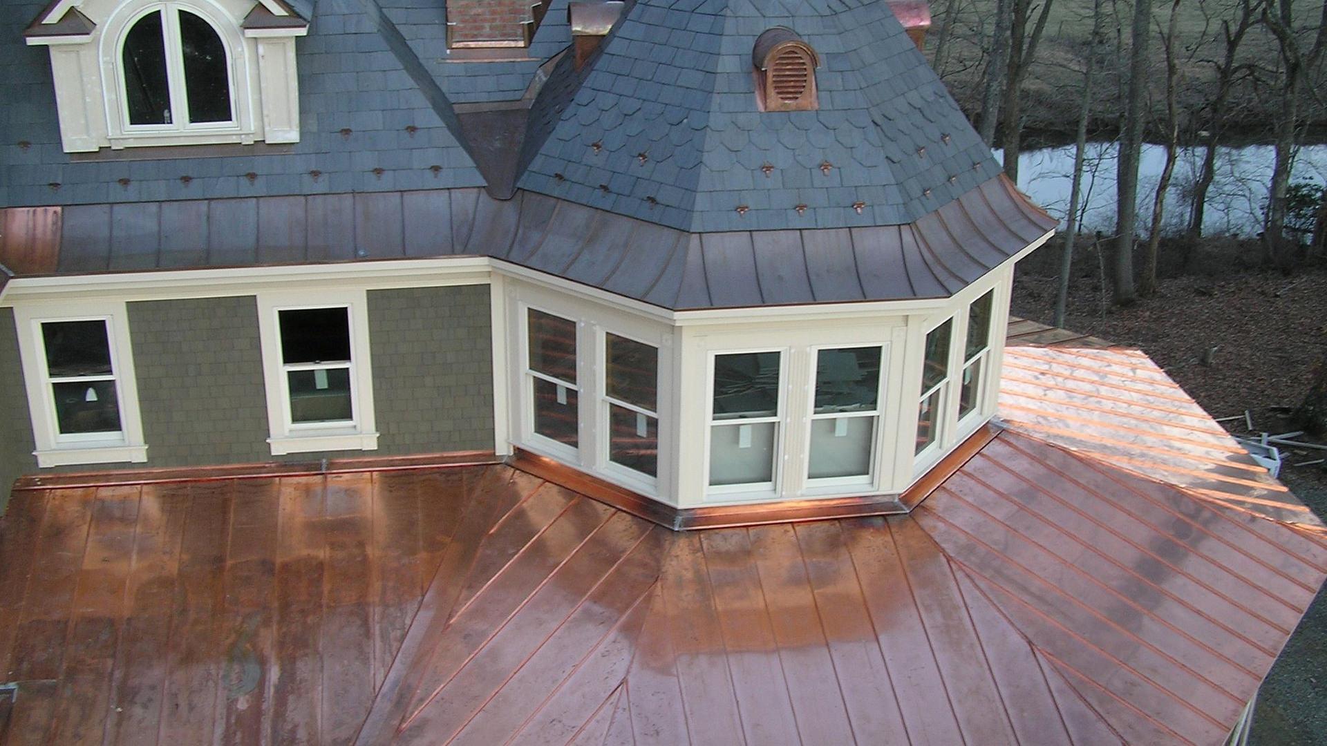 Radius copper radius roof panels
