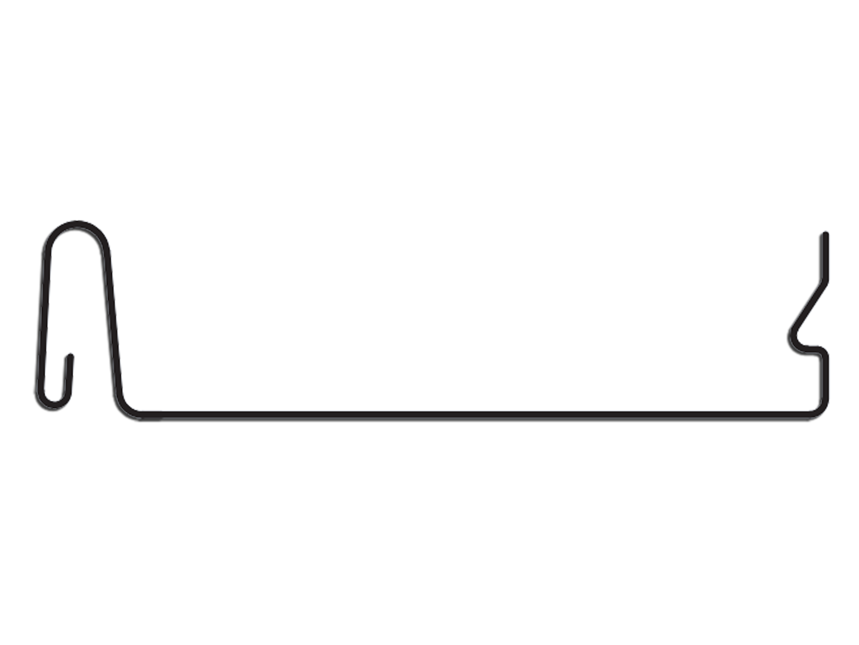 Snap lock metal roof panel profile